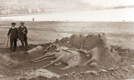 Horse Sand Sculptures On The Beach